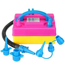 600W electric balloon pump, round balloon inflator pump with 2 nozzels