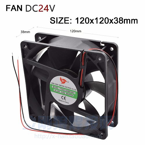 Cooling Fan copper core DC 24v ,120x120  radiator 38mm thick for Inverter welding machine