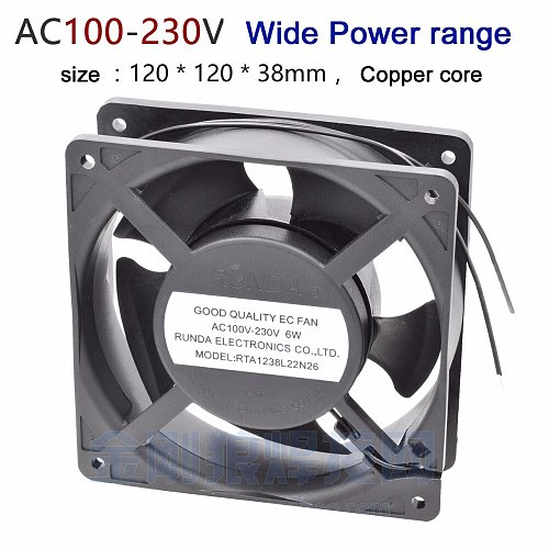 RUNDA AC100V-230V 6W inverter fan wide voltage copper core plastic shell for Inverter welding machine