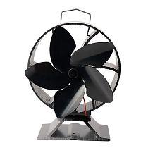5 Blade Heat Powered Wood Stove Fan Log Burner Fireplace Silent Quiet Eco Friend