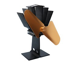 2 Blades Heat Powered Stove Fan Home Silent Heat Powered Stove Fan Ultra Quiet Wood Stove Fan Fireplace Fan