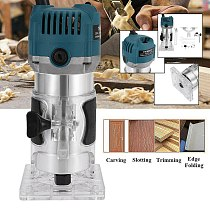 Electric Hand Wood Trimme Router 6.35mm Collet Chuck Engraving Trimming Machine Electric Router High Precision#0623g30