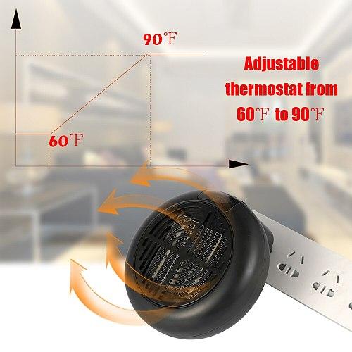 KKMOON 900W Heater Wall-Outlet Digital LED Electric Heater Air Fan Portable Handy Warm Radiator Home Warmer