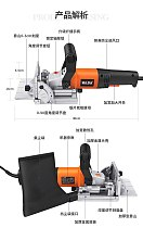 760W Woodworking Tenoning Machine Wood Biscuit Joiner Wooden Slotting Machine For Docking Board