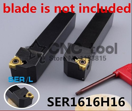 SER1616H16/ SEL1616H16 External Threading Turning Tool, Lathe Cutting tool Threaded Turning Tool Holder, CNC Cutting Tool for 16