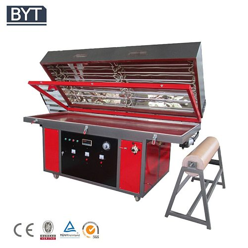 PVC foil vacuum membrane press machine for making PVC wood door cabinet and other wood furniture