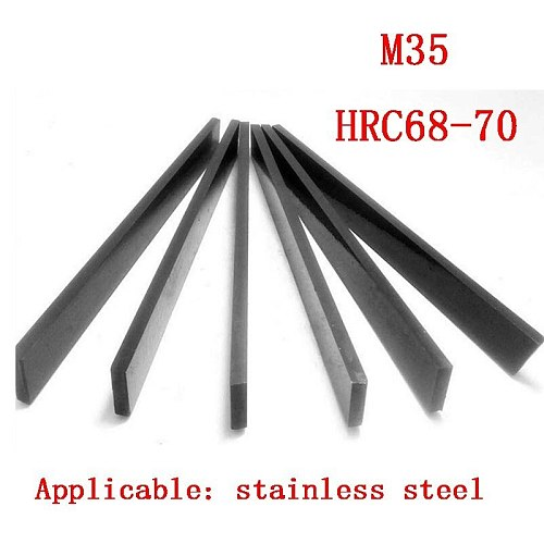 5*8*10*12*14*16*20*25*30*2000mm Exceed Hard White Steel Knife Bar Turning Stainless M35 Contain Cobalt HRC68-70 HSS