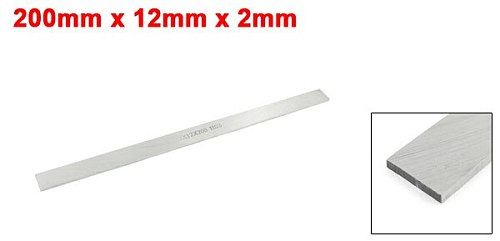 UXCELL HSS 200 x 12 x 2mm Rectangle Lathe Tool Bit Boring Bar Fly Cutter Gray Used for turning, boring out, grooving, etc