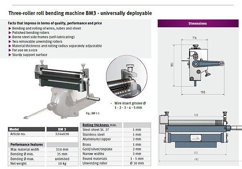 RB30 Manual Steel Plate Rolling machine,BateRpak steel/galvanized/aluminum/sheet Bending Machine(Export Germany Quality)No clamp