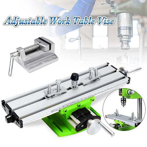 Multifunction 2 Axis Milling Compound Working Table Cross Sliding Bench Drill Vise Fixture DIY Adjustment Worktable