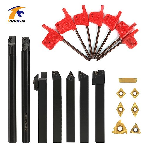 12MM Solid Carbide Inserts Holder Boring Bar Lathe Turning Tool Wrench For Lathe Turning Tool Lathe Cutter Wood Metal