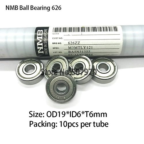 NMB Ball Screw Pulley Bearing 626 ID6*OD19*W6mm for High Speed EDM Wire Cutting Machine