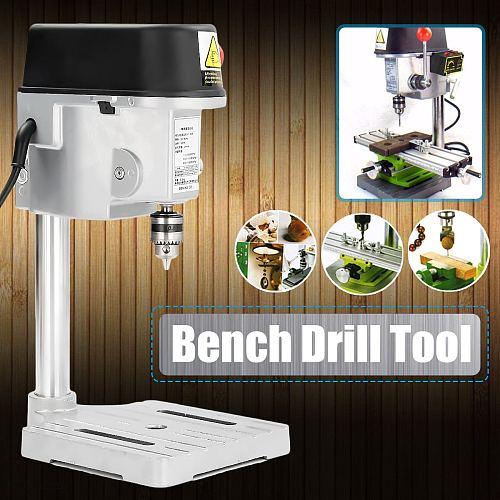 Drill Press Mini Drilling Machine 240W for Bench Machine Table Bit Drilling Chuck 0.6-6.5mm Wood Metal Electrical Tools
