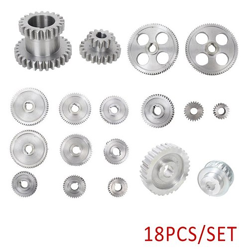 2020 18Pcs/Set CJ0618 Metal Gears Mini Lathe Gear Metal Cutting Machine Tool Gea A4V3 Machinery Gear Cutting Machine Accessories