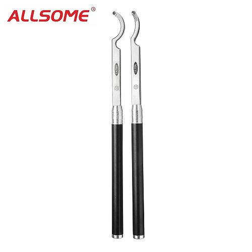 ALLSOME Hollower Wood Turning Tool Hook Style with Wood Carbide Inserts and Alumumin Alloy Handle HT2329-2330