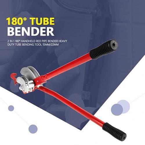 Bending Machine 2 in 1 180 derees Handheld Red Pipe Bender Heavy Duty Tube Bending Tool 15mm/22mm pipe bender manual