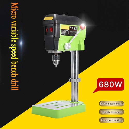 680W Bench drill Mini Electric Drilling Machine Precision Multi-functional Milling Tools Vise Fixture Work Table DIY Bracket