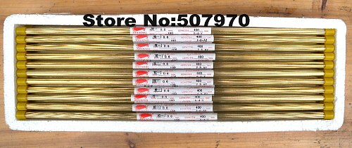 Ziyang Brass Electrode Tube Single Hole 0.6*400mm  for EDM Drilling Machine