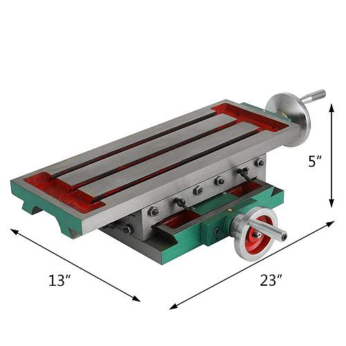 VEVOR 450x170mm Compound Milling Machine Work Table 2 Axis Cross Slide Bench Drill Vise Fixture Drilling Milling for Drill Stand