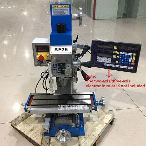 BF25 Drilling Milling Machine Small Industrial Metal Bench Drill Vertical Drill And Milling Machine 220V 1000W MT3 (500x180mm)