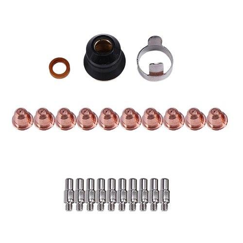 ABSF S45 CUT55 PT-40 PT40 IPT-40 PT-60 PT60 PTM-60 IPT-60 Plasma Torch Cutter Consumables Kit Trafimet 0.9mm 40A