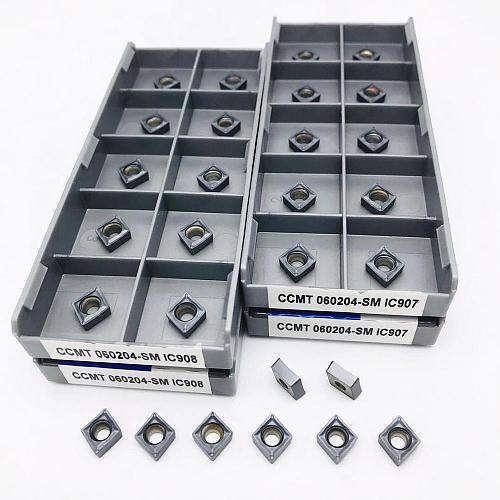 Carbide CCMT060204 CCMT060208 SM IC907 908 Turning Carbide Insert Internal Turning Insert CNC CCMT 060204 Lathe Metal Tool