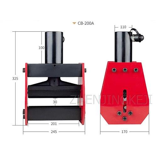 CB-200A Split Hydraulic Copper Row / Aluminum Row / Iron Bending Machine Bending Tools Bus Processing Machine Pipe Bender