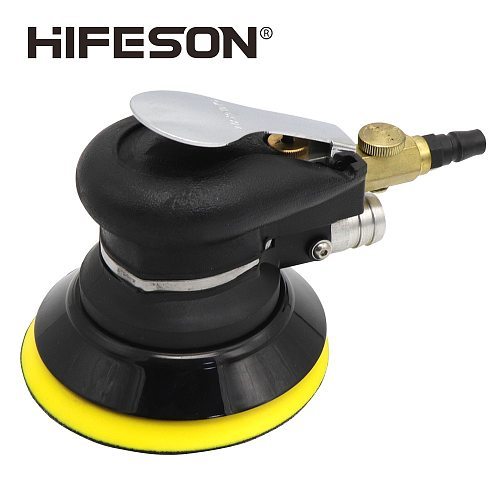 5 Inch 125mm Pneumatic Air Vacuuming Sander Polisher Tool Polishing Machine for Car Paint Care Wood working Grinder Polisher