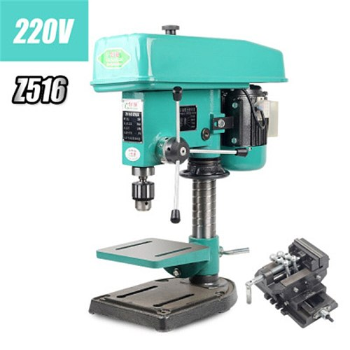 Z516 Industrial Grade Bench Drill Household Bench Drill Small 220V750W Motor Parts High Power Drilling and Milling Machine