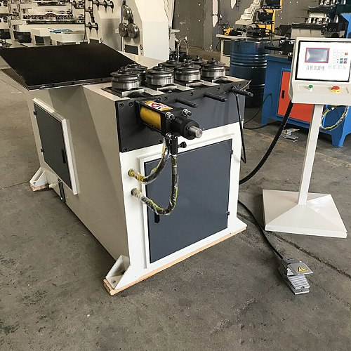 Rolling machine stainless steel iron bar pipe tube rolling machine coiling bending machine 40mm