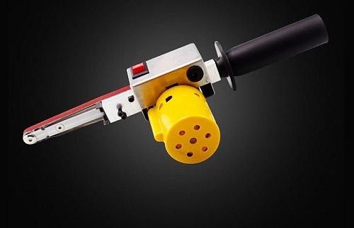 Handheld Electric Belt Sander Mini Sanding Machine Angle Grinder with Sanding Belt for Sanding Polishing Micro Polishing Machine