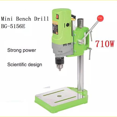 220V 710W Mini Drilling Electric Milling Machine Bench Column Drill Press Stand Power Tools Parts Variable Speed