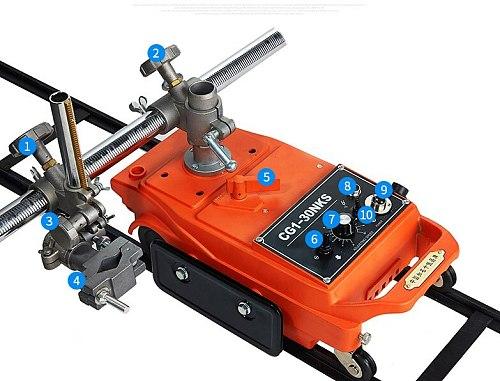 Plasma Cutting Machine Linear Flame Cutting Machine Small Turtle Semi-automatic Welding Cutting Machine CG1-30