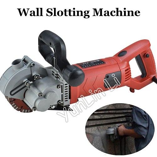 Handheld Wall Concrete Slotting Machine Electric Brick Wall Cutting Machine + 5 Blades Type 1252