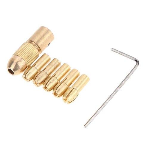 0.5/1.0/1.5/2.5/3.0 mm High Speed Steel keyless mini drill chucks adapter micro drill collets clamp socket drill for Wood