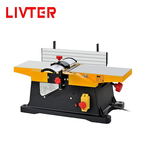 LIVTER 6'' small woodworking jointer planer / hand power jointer machine with 2pcs free flat blade knives