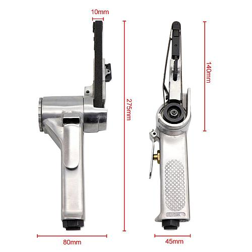10*330mm Air Belt Sander Air Angle Grinding Machine Sanding Machine with Sanding Belts for Air Compressor