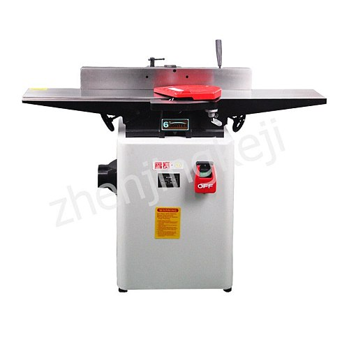 Small Planer Multifunctional High Speed Desktop High Power Plane Planer Woodworking 6 Inches Adjustable Automatic Chip Removal
