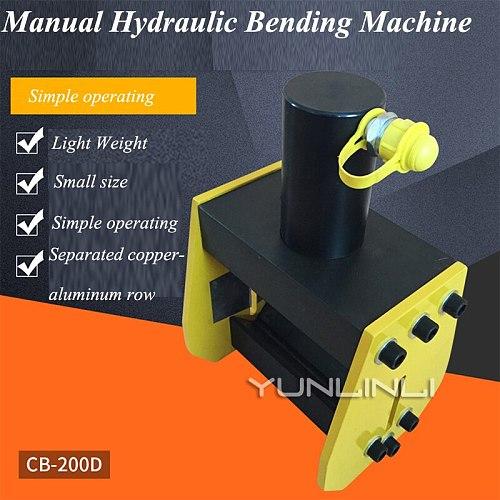 Manual Hydraulic Bending Machine 90 Degree Bending Machine Hydraulic Bus Copper And Aluminum Row Bending Machine CB-200D