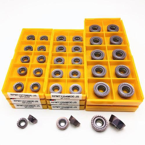 Lathe tool RPMT1204 RPMT1606 RPMT10T3MO E JS VP15TF high quality internal round carbide insert RPMT 1204CNC metal turning insert