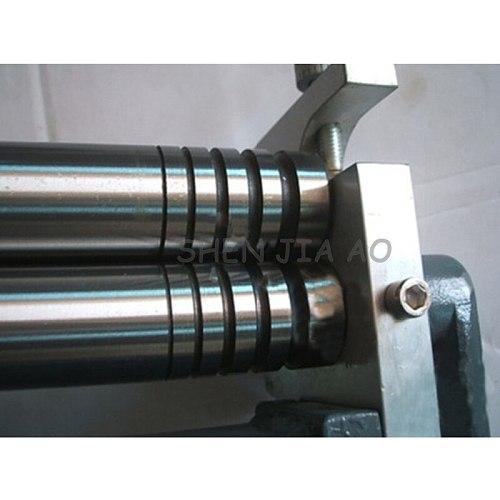 HR-320 small desktop manual roll machine steel plate, steel rod roll processing metal plate bending round machine 1pc