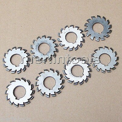 M1.25 PA20 Bore16 #1-8 Involute Gear Cutters Set 8Pcs