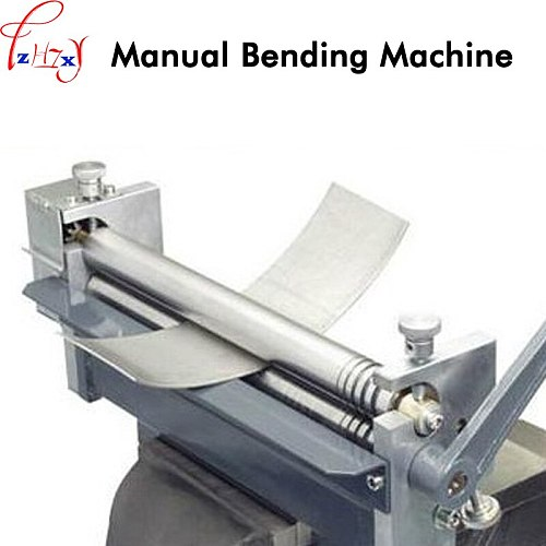 HR-320 small desktop manual roll machine steel plate, steel rod roll processing metal plate bending round machine 1pc