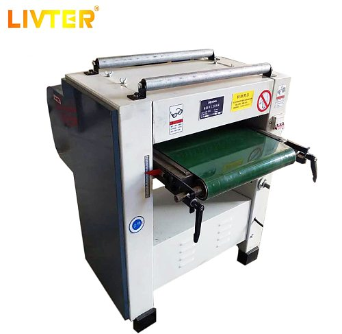 LIVTER Woodworking Machinery planer machine Mini size automatic spiral cutter head planer or Flat cutter head