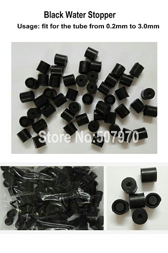 Black Rubber Seal Stopper for EDM Electrode Tube Drilling Machine Parts