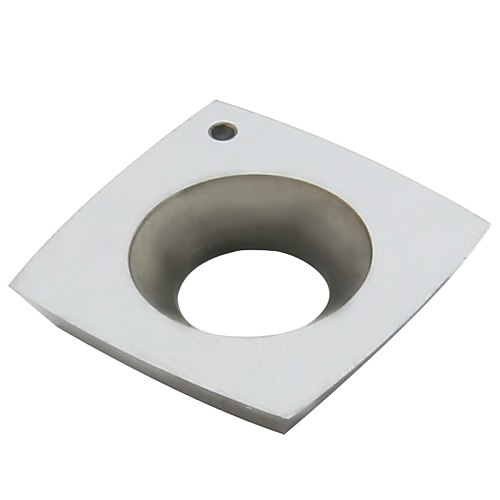 1pc 2  Face Radius Carbide Insert 4-Edge Square Round Edge Blades CNC Lathe Turning Cutter for Woodworking 15mm*15mm*2.5mm-R50