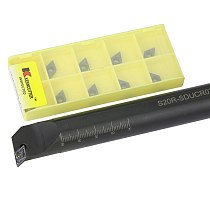 1pc S10K-SDUCR07 S16Q-SDUCR07 S20R-SDUCR07 Internal Turning Tool Holder DCMT Carbide Inserts Lathe Bar CNC Cutting Tools Set