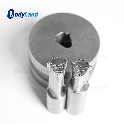 CandyLand 3D Tablet Die  Pill Press Mold Candy Punching Die Man Milk Custom Logo Calcium Tablet Punch Die For TDP1.5 Machine