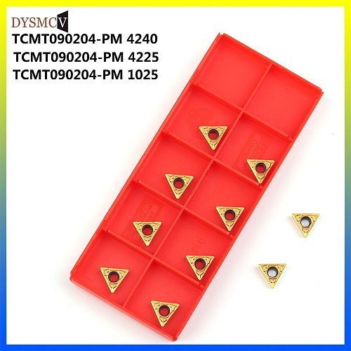 high quality TCMT090204-PM 1025 Carbide inserts TCMT 090204-PM 4240 Internal turning tool CNC lathe tools Turning inserts