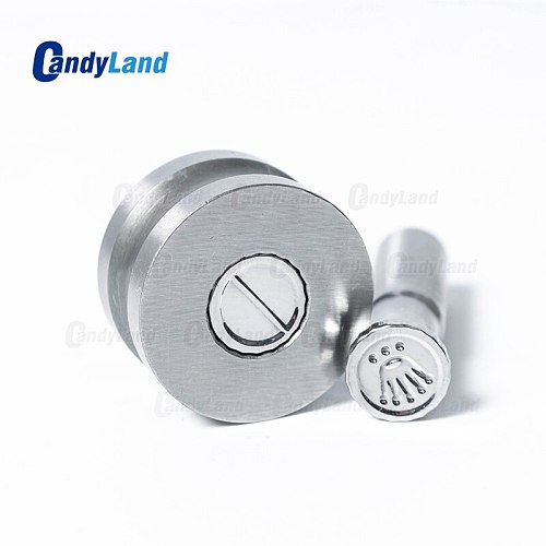 CandyLand TDP1.5 /TDP 5 Pill Punch Press Die For Tablet Machine Crown Logo Candy Press Tools